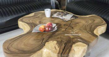 Couchtisch aus einem Baumstamm 130 cm