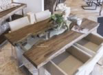 Massivholz Esstisch aus recyceltem Teakholz