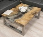 "Toller Couchtisch aus Holz ""Natural Landscape"" 120x80cm"